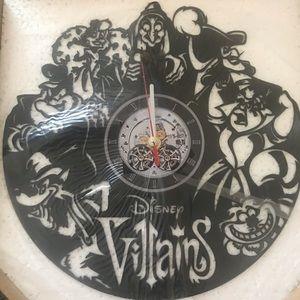 Disney-Villains (version 2)  wall clock -Black